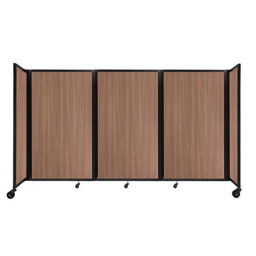 "Room Divider 360 Folding Portable Partition 8'6"" x 5' River Birch Wood Grain"