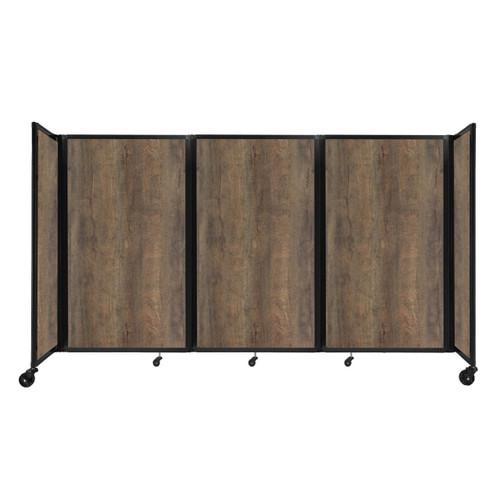 "Room Divider 360 Folding Portable Partition 8'6"" x 5' Urban Oak Wood Grain"