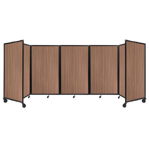 Room Divider 360 Folding Portable Partition 14' x 5' River Birch Wood Grain