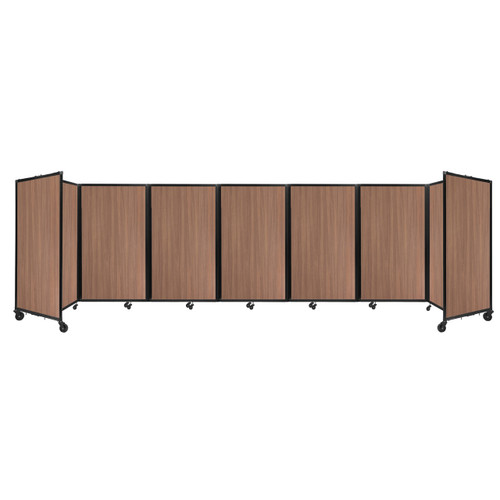 "Room Divider 360 Folding Portable Partition 19'6"" x 5' River Birch Wood Grain"