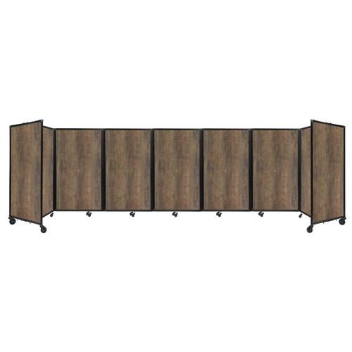 "Room Divider 360 Folding Portable Partition 19'6"" x 5' Urban Oak Wood Grain"