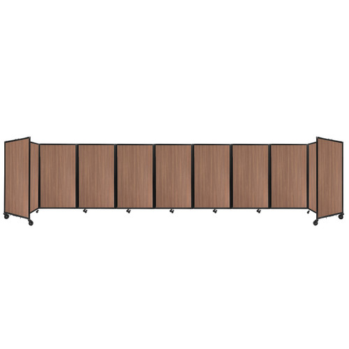 Room Divider 360 Folding Portable Partition 25' x 5' River Birch Wood Grain