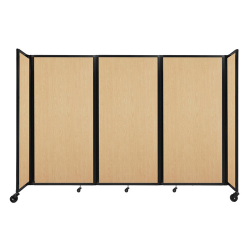 """Room Divider 360 Folding Portable Partition 8'6"""" x 6' Natural Maple Wood Grain"""