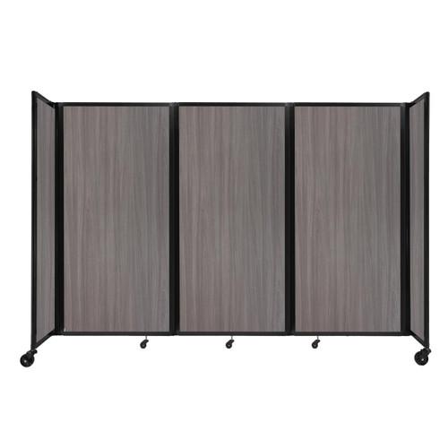 "Room Divider 360 Folding Portable Partition 8'6"" x 6' Gray Elm Wood Grain"