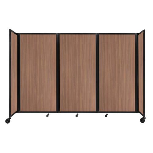 "Room Divider 360 Folding Portable Partition 8'6"" x 6' River Birch Wood Grain"