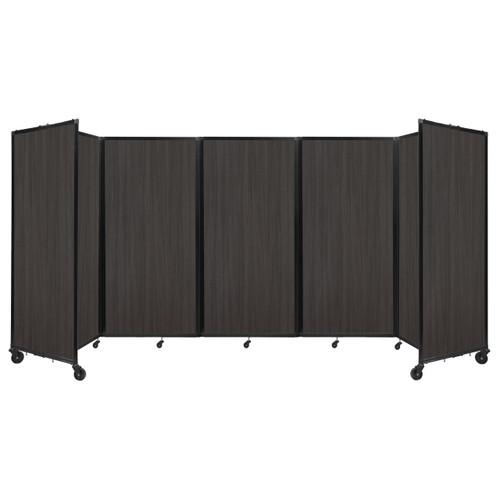 Room Divider 360 Folding Portable Partition 14' x 6' Carbon Ash Wood Grain
