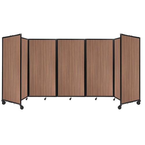 Room Divider 360 Folding Portable Partition 14' x 6' River Birch Wood Grain