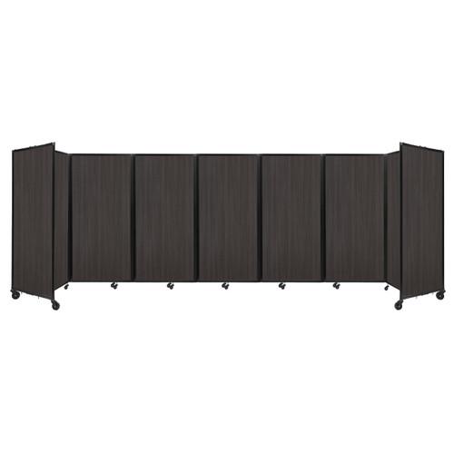 """Room Divider 360 Folding Portable Partition 19'6"""" x 6' Carbon Ash Wood Grain"""