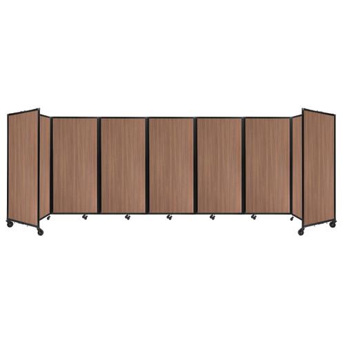 "Room Divider 360 Folding Portable Partition 19'6"" x 6' River Birch Wood Grain"