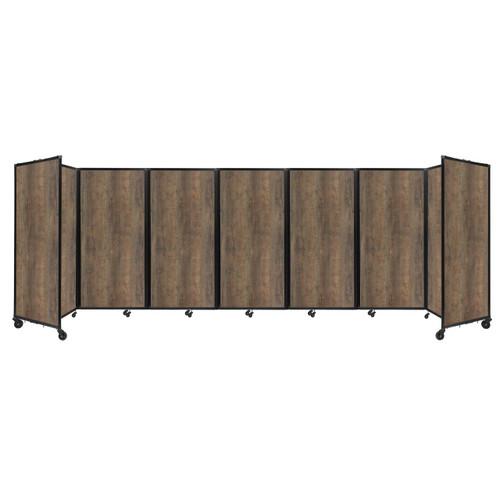 "Room Divider 360 Folding Portable Partition 19'6"" x 6' Urban Oak Wood Grain"