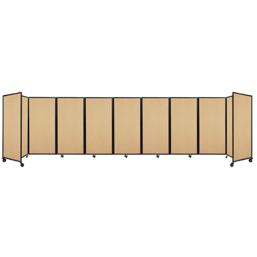 Room Divider 360 Folding Portable Partition 25' x 6' Natural Maple Wood Grain