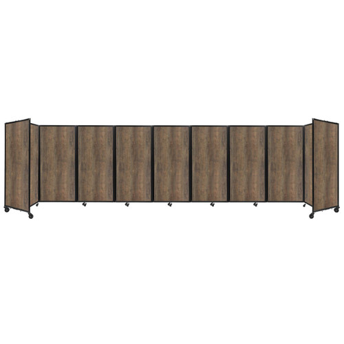 Room Divider 360 Folding Portable Partition 25' x 6' Urban Oak Wood Grain