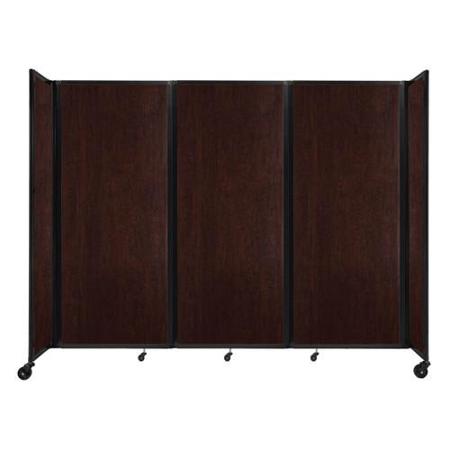 "Room Divider 360 Folding Portable Partition 8'6"" x 6'10"" Espresso Cherry Wood Grain"