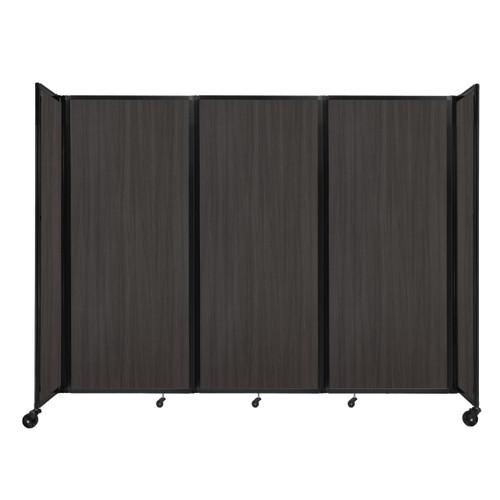 """Room Divider 360 Folding Portable Partition 8'6"""" x 6'10"""" Carbon Ash Wood Grain"""