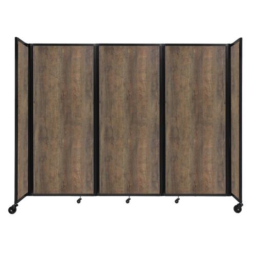 "Room Divider 360 Folding Portable Partition 8'6"" x 6'10"" Urban Oak Wood Grain"