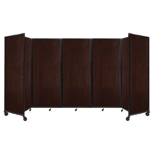 "Room Divider 360 Folding Portable Partition 14' x 6'10"" Espresso Cherry Wood Grain"