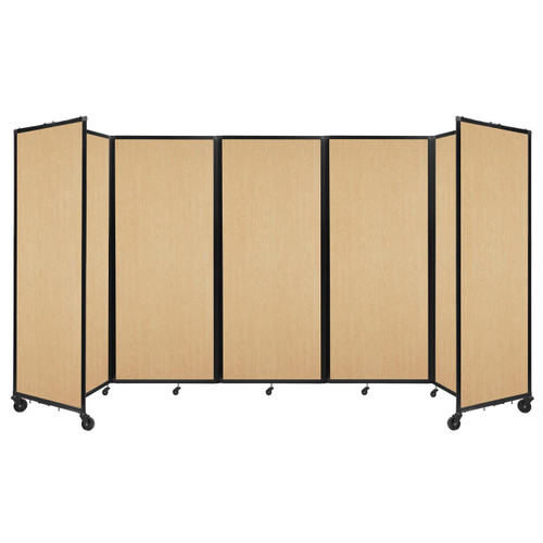 """Room Divider 360 Folding Portable Partition 14' x 6'10"""" Natural Maple Wood Grain"""