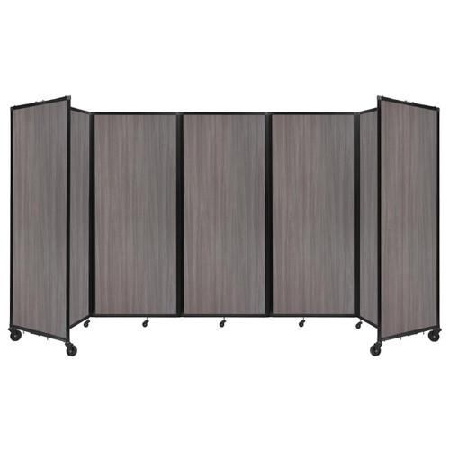 "Room Divider 360 Folding Portable Partition 14' x 6'10"" Gray Elm Wood Grain"