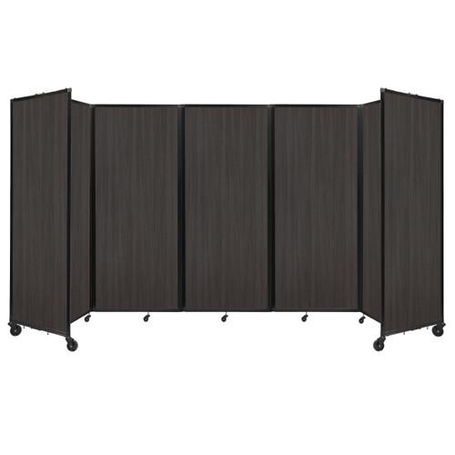 """Room Divider 360 Folding Portable Partition 14' x 6'10"""" Carbon Ash Wood Grain"""
