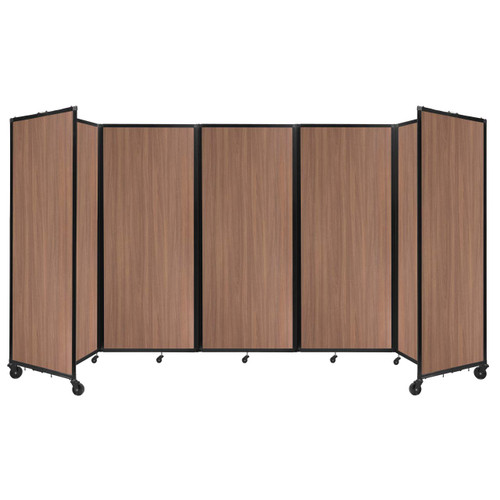 "Room Divider 360 Folding Portable Partition 14' x 6'10"" River Birch Wood Grain"