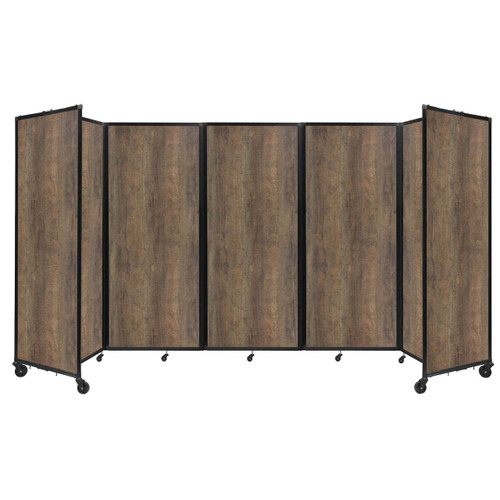 "Room Divider 360 Folding Portable Partition 14' x 6'10"" Urban Oak Wood Grain"