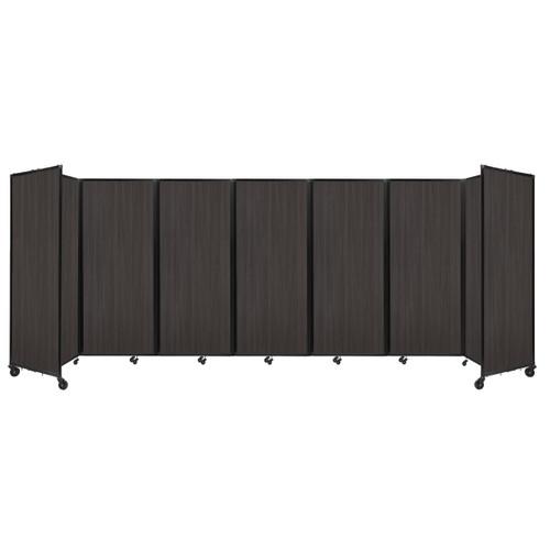 """Room Divider 360 Folding Portable Partition 19'6"""" x 6'10"""" Carbon Ash Wood Grain"""