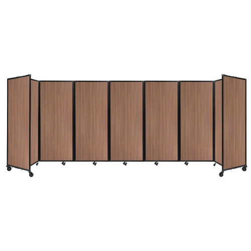 "Room Divider 360 Folding Portable Partition 19'6"" x 6'10"" River Birch Wood Grain"