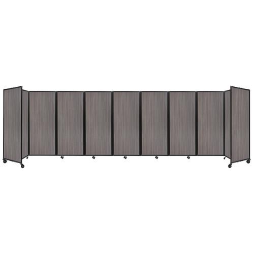 "Room Divider 360 Folding Portable Partition 25' x 6'10"" Gray Elm Wood Grain"