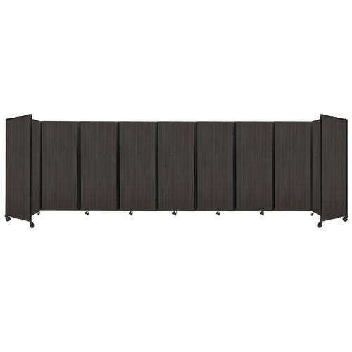 """Room Divider 360 Folding Portable Partition 25' x 6'10"""" Carbon Ash Wood Grain"""