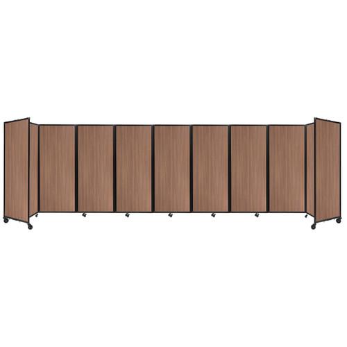 "Room Divider 360 Folding Portable Partition 25' x 6'10"" River Birch Wood Grain"