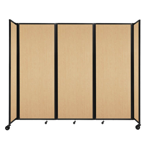 """Room Divider 360 Folding Portable Partition 8'6"""" x 7'6"""" Natural Maple Wood Grain"""
