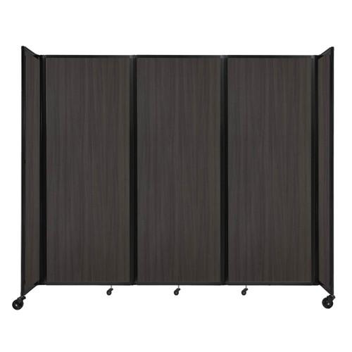 """Room Divider 360 Folding Portable Partition 8'6"""" x 7'6"""" Carbon Ash Wood Grain"""