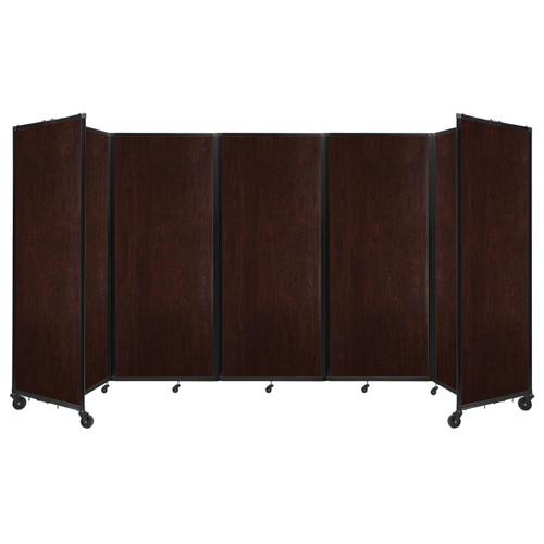 "Room Divider 360 Folding Portable Partition 14' x 7'6"" Espresso Cherry Wood Grain"