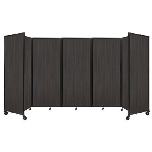 """Room Divider 360 Folding Portable Partition 14' x 7'6"""" Carbon Ash Wood Grain"""