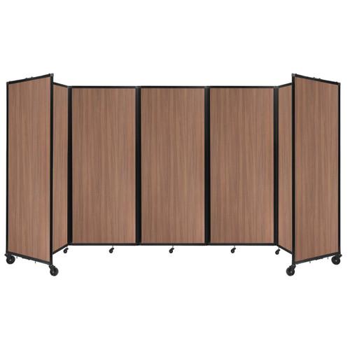"Room Divider 360 Folding Portable Partition 14' x 7'6"" River Birch Wood Grain"