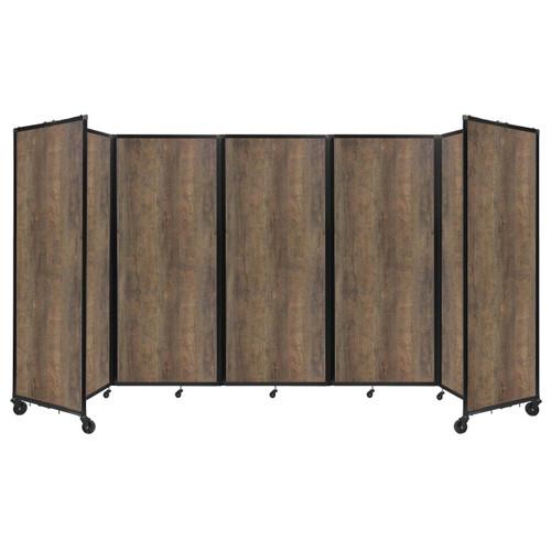 "Room Divider 360 Folding Portable Partition 14' x 7'6"" Urban Oak Wood Grain"