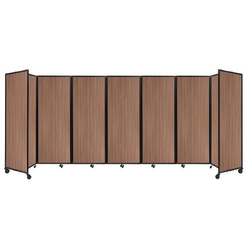 "Room Divider 360 Folding Portable Partition 19'6"" x 7'6"" River Birch Wood Grain"