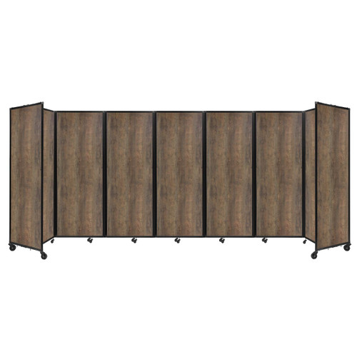 "Room Divider 360 Folding Portable Partition 19'6"" x 7'6"" Urban Oak Wood Grain"
