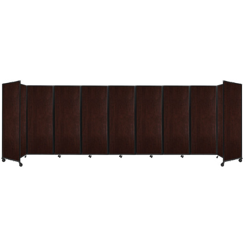 "Room Divider 360 Folding Portable Partition 25' x 7'6"" Espresso Cherry Wood Grain"