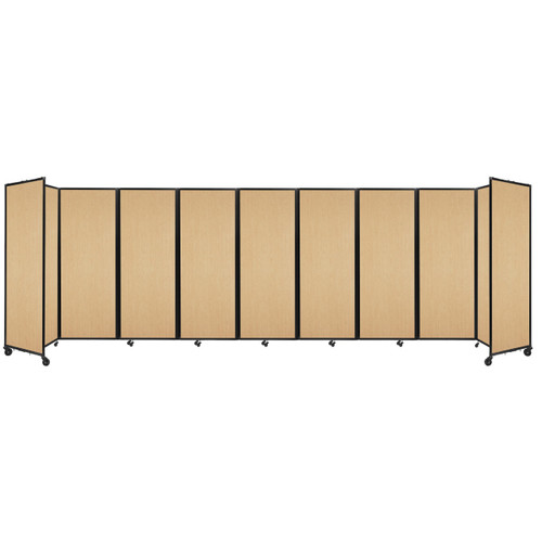"""Room Divider 360 Folding Portable Partition 25' x 7'6"""" Natural Maple Wood Grain"""
