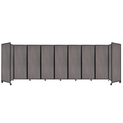 "Room Divider 360 Folding Portable Partition 25' x 7'6"" Gray Elm Wood Grain"