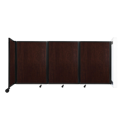 """Wall-Mounted Room Divider 360 Folding Portable Partition 8'6"""" x 4' Espresso Cherry Wood Grain"""
