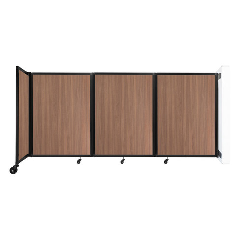 """Wall-Mounted Room Divider 360 Folding Portable Partition 8'6"""" x 4' River Birch Wood Grain"""