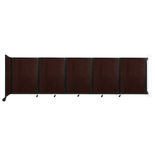 Wall-Mounted Room Divider 360 Folding Portable Partition 14' x 4' Espresso Cherry Wood Grain