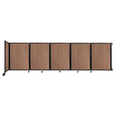 Wall-Mounted Room Divider 360 Folding Portable Partition 14' x 4' River Birch Wood Grain