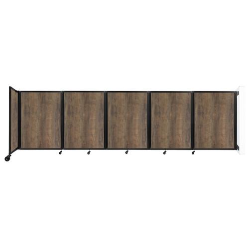 Wall-Mounted Room Divider 360 Folding Portable Partition 14' x 4' Urban Oak Wood Grain