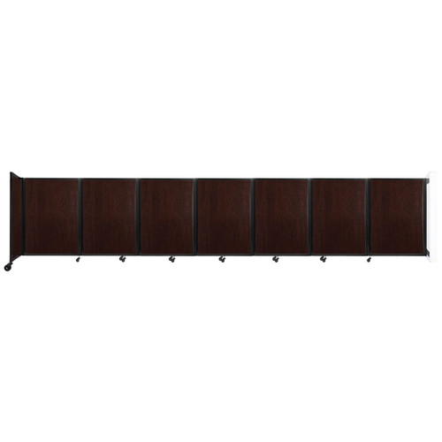 """Wall-Mounted Room Divider 360 Folding Portable Partition 19'6"""" x 4' Espresso Cherry Wood Grain"""