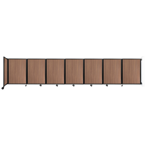 """Wall-Mounted Room Divider 360 Folding Portable Partition 19'6"""" x 4' River Birch Wood Grain"""