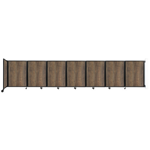 "Wall-Mounted Room Divider 360 Folding Portable Partition 19'6"" x 4' Urban Oak Wood Grain"