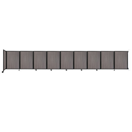 Wall-Mounted Room Divider 360 Folding Portable Partition 25' x 4' Gray Elm Wood Grain
